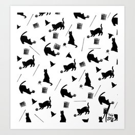 Tailor Witch Pattern Art Print