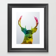 Glass Animal - Deer head Framed Art Print