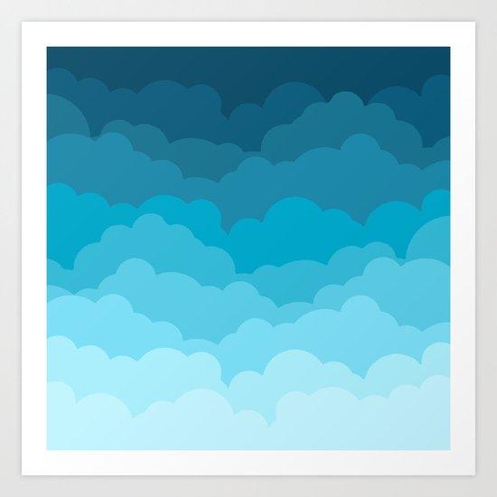 Gradient Clouds Art Print