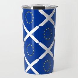 Mix of flag: UE and scotland Travel Mug