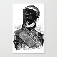bdsm Canvas Prints featuring BDSM XXVIII by DIVIDUS