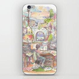 Travel around the world on my desk iPhone Skin