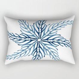 Blue Watercolor Flower Rectangular Pillow