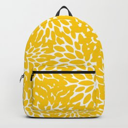 Yellow Floral Blooms, Bright Summer Pattern Backpack