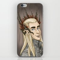 thranduil iPhone & iPod Skins featuring Thranduil by quietsnooze
