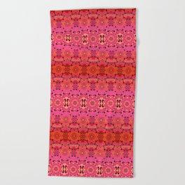 Pink Haze Bandana Ombre' Stripe Beach Towel