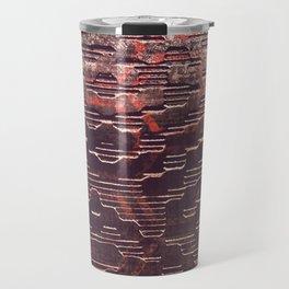 HexR1 - Distressed Sci-Fi Steel Texture Travel Mug