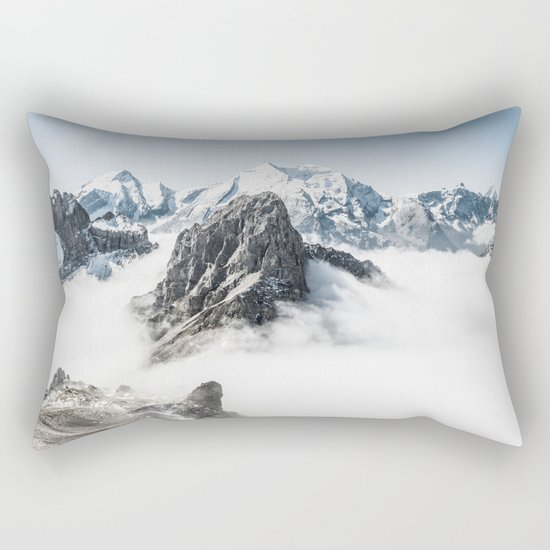 With My Head Above The Clouds Rectangular Pillow