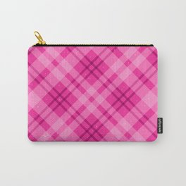 Pink Tartan Plaid With Sparkles Carry-All Pouch