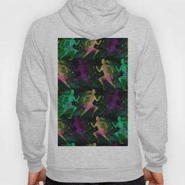 Watercolor women runner pattern on Dark Background Hoody
