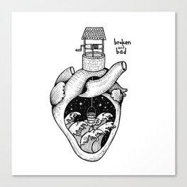 People's hearts are like deep wells Canvas Print