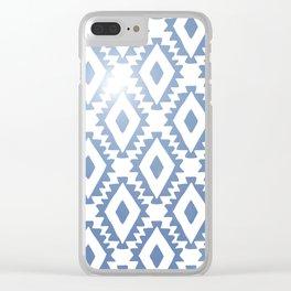 Aztec geometrics - chambray Clear iPhone Case
