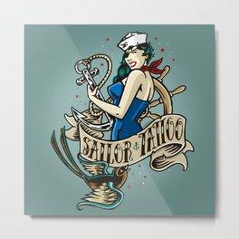 Sailor&Tattoo Metal Print