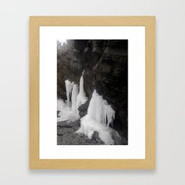 Coastal Waterfall Ice Framed Art Print