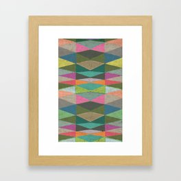 Colorblock Tribal Triangle Pattern Framed Art Print