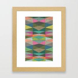 Colorblock Tribal Triangle Pattern Framed Art Print