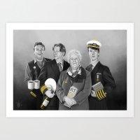 cabin pressure Art Prints featuring Cabin Crew by tillieke