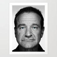 robin williams Art Prints featuring Robin Williams by Ionic Slasher