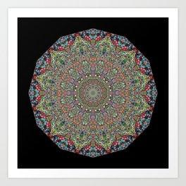 Mexican Difference Mandala Art Print