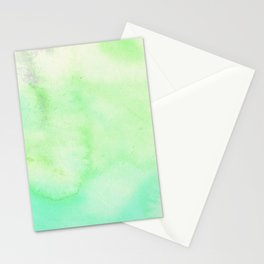 Watercolor Neck Gaiter Watercolor Green Neck Gator Stationery Cards