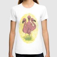flamingos T-shirts featuring Flamingos  by Amanda James