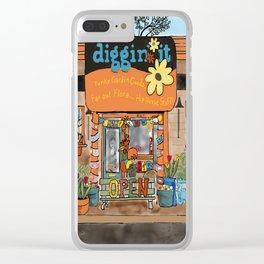 Diggin' it Mckinney, TX Clear iPhone Case