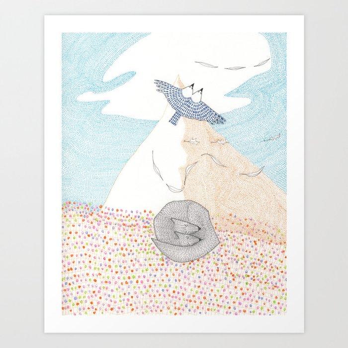 EVEN AIR Art Print