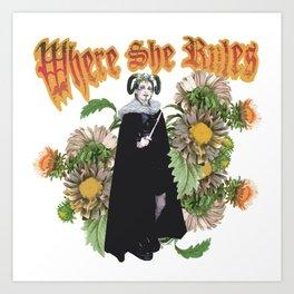 Melonie: Victorian Flower Series, Where She Rules Art Print