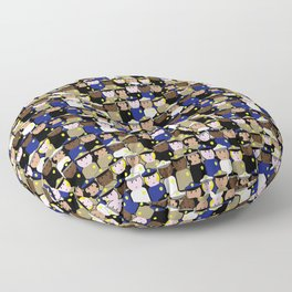 peg people police Floor Pillow