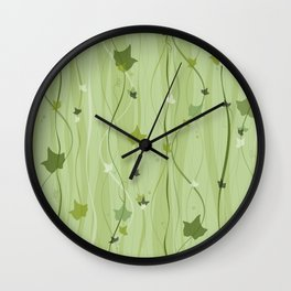 Climbing Vines - English Ivy Wall Clock
