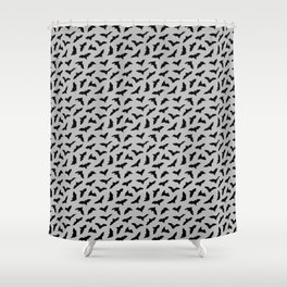Bats on Grey // Halloween Collection Shower Curtain