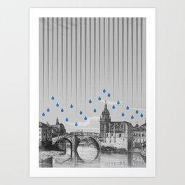La lluvia en Bilbao es una pura maravilla Art Print