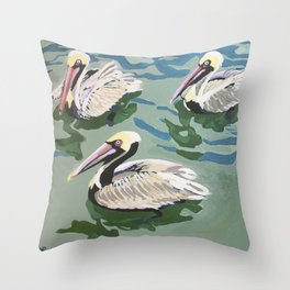 Then There Were 3 Throw Pillow