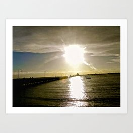 A Melbourne sunset. Art Print