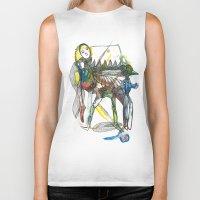 wings Biker Tanks featuring Wings by Dawn Patel Art