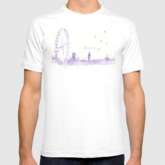 Watercolor landscape illustration_London Eye T-shirt