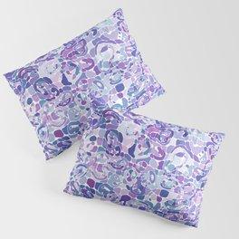 Blue and Purple Blobs Pillow Sham