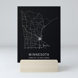 Minnesota State Road Map Mini Art Print