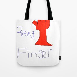 The Rising Finger Tote Bag