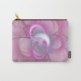 Pink Abstract Fractal on Pink Carry-All Pouch
