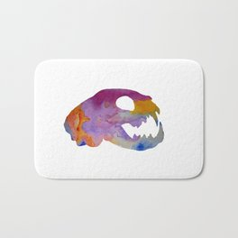 Cat Skull Art Bath Mat