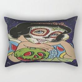 Snow White with apple Sugar Skull Rectangular Pillow