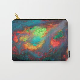 """""""Titan"""" Mixed media color on canvas, abstract painting red blue green yellow contemporary art Carry-All Pouch"""