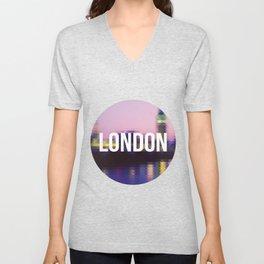 London - Cityscape Unisex V-Neck