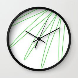 White Green Wall Clock