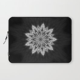 Black Ice Mandala Swirl Laptop Sleeve