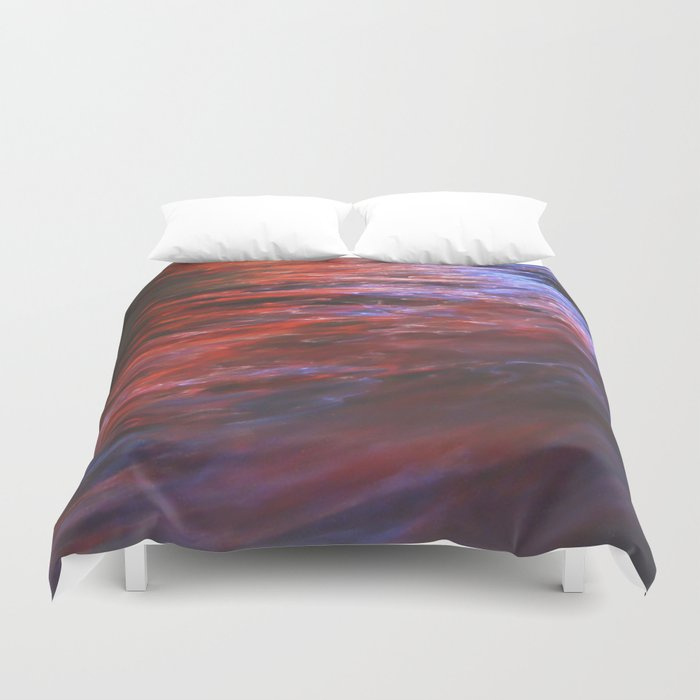 Citylights: Hong Kong Harbour #7 - LEFT - Triptychon Duvet Cover