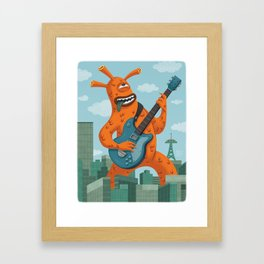 Dai Kaiju Rock City Framed Art Print