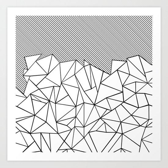Ab Lines 45 Art Print