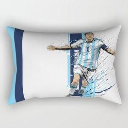 Football Legends: Lionel Messi - Argentina Rectangular Pillow